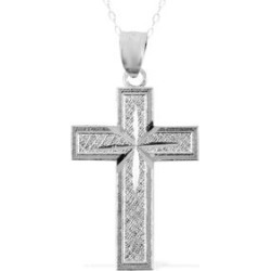 Cross Pendant Necklace (18 in) in Sterling Silver (2.3 g) found on Bargain Bro Philippines from Shop LC for $99.99