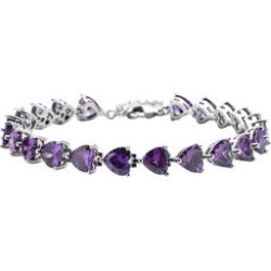Simulated Purple Diamond Bracelet in Silvertone (8.00 In) found on Bargain Bro Philippines from Shop LC for $59.99