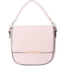 Blush Multi Wear Faux Leather Messenger Crossbody Clutch Bag with Detachable Flap and Straps (8.5x8.5x3) found on Bargain Bro from Shop LC for USD $45.59