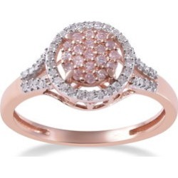 0.35 ctw Natural Pink Diamond Ring in 10K Rose Gold (Size 9.0) found on Bargain Bro India from Shop LC for $1949.99
