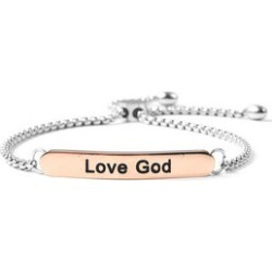 Love God Bolo Bracelet in Black Oxidized and ION Plated RG Stainless Steel found on Bargain Bro Philippines from Shop LC for $79.99