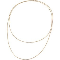 ION Plated YG Stainless Steel Popcorn Endless Necklace (72 in)