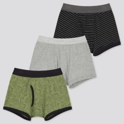 UNIQLO Boy's Boxer Briefs (Set Of 3), Olive, 9-10Y found on Bargain Bro Philippines from Uniqlo US for $9.90