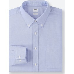 UNIQLO Men's Oxford Slim-Fit Long-Sleeve Shirt, Blue, XXL found on Bargain Bro Philippines from Uniqlo US for $19.90