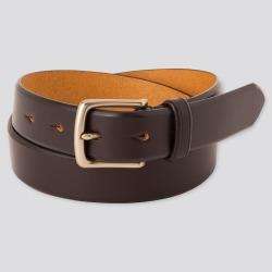 UNIQLO Men's Italian Saddle Leather Belt, Brown, L found on Bargain Bro India from Uniqlo US for $29.90
