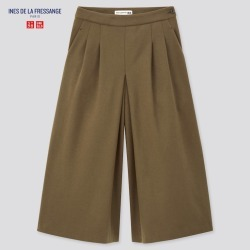 UNIQLO Women's Brushed Jersey Culottes (Ines De La Fressange), Olive, size 10 found on Bargain Bro Philippines from Uniqlo US for $39.90