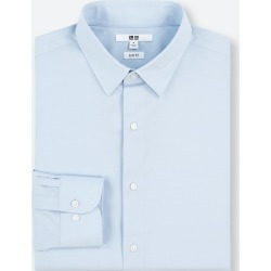 UNIQLO Men's Easy Care Stretch Slim-Fit Long-Sleeve Shirt (L), Blue, 17 in. found on Bargain Bro Philippines from Uniqlo US for $9.90