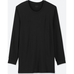 UNIQLO Men's HEATTECH Crew Neck Long-Sleeve T-Shirt, Black, XXL found on Bargain Bro India from Uniqlo US for $9.90