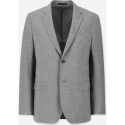 UNIQLO Men's Stretch Wool Slim-Fit Jacket, Gray, M found on Bargain Bro India from Uniqlo US for $59.90
