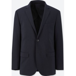 UNIQLO Men's Stretch Wool Slim-Fit Jacket, Navy, L found on Bargain Bro India from Uniqlo US for $49.90