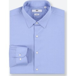 UNIQLO Men's Easy Care Stretch Slim-Fit Long-Sleeve Shirt, Blue, XL found on Bargain Bro India from Uniqlo US for $14.90
