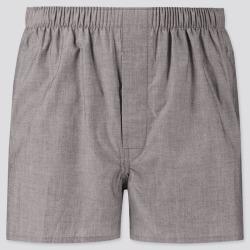 UNIQLO Men's Woven Broadcloth Boxers, Gray, Regular found on Bargain Bro India from Uniqlo US for $3.90