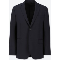 UNIQLO Men's Stretch Wool Slim-Fit Jacket, Navy, M found on Bargain Bro Philippines from Uniqlo US for $59.90