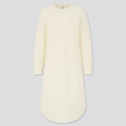 UNIQLO Women's Waffle Crew Neck Long Sleeve Dress, White, XXS found on Bargain Bro India from Uniqlo US for $9.90