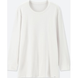 UNIQLO Men's HEATTECH Extra Warm Crew Neck Long-Sleeve T-Shirt, White, XXL found on Bargain Bro Philippines from Uniqlo US for $14.90