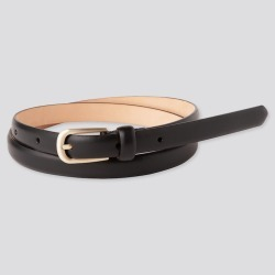 UNIQLO Women's Dress Skinny Belt, Black, L found on Bargain Bro India from Uniqlo US for $29.90