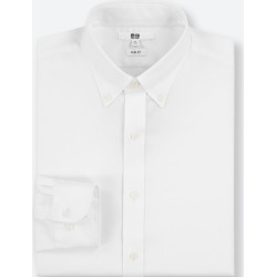 UNIQLO Men's Easy Care Stretch Slim-Fit Long-Sleeve Shirt (M), White, 16 in. found on Bargain Bro Philippines from Uniqlo US for $9.90