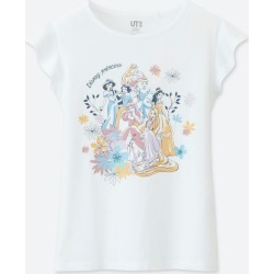 UNIQLO Girl's Disney Blossoming Dreams Ut (Short-Sleeve Graphic T-Shirt), White, Ages 9-10(140) found on Bargain Bro India from Uniqlo US for $3.90