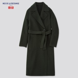 UNIQLO Women's Wool-Blend Double-faced Coat (Ines De La Fressange), Green, XXL found on Bargain Bro Philippines from Uniqlo US for $89.90