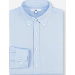 UNIQLO Men's Easy Care Regular-Fit Long-Sleeve Shirt (S), Blue, 16 in. found on Bargain Bro India from Uniqlo US for $9.90