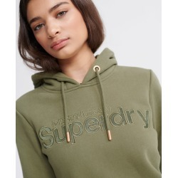Superdry Satin Applique Hoodie found on Bargain Bro from Superdry (UK) for £45