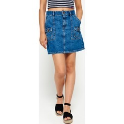 Superdry Utility Patched Denim Skirt found on Bargain Bro from Superdry (UK) for £23