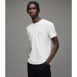 AllSaints Men's Cotton Slim Fit Regular Tonic Crew T-Shirt, White, Size: S found on Bargain Bro UK from All Saints UK