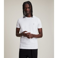 AllSaints Men's Cotton Slim Fit Tonic Short Sleeve Crew Neck T-Shirt, White, Size: XS found on Bargain Bro UK from All Saints UK