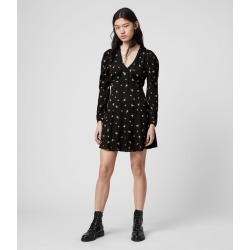 AllSaints Women's Embroidered Regular Fit Rosi Bamboo Dress, Black, Size: 10 found on Bargain Bro UK from All Saints UK