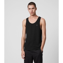 AllSaints Men's Cotton Lightweight Tonic Vest, Black, Size: M found on Bargain Bro UK from All Saints UK