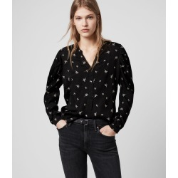 AllSaints Womens Rosi Bamboo Top, Black, Size: XS found on Bargain Bro UK from All Saints UK