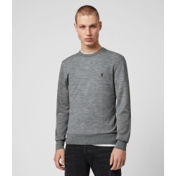 AllSaints Men's Merino Wool Lightweight Mode Crew Jumper, Grey, Size: XL found on Bargain Bro UK from All Saints UK