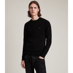 AllSaints Mens Mode Merino Crew Jumper, Black, Size: XL found on Bargain Bro UK from All Saints UK