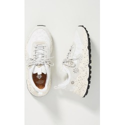 Flower Mountain Leather and Mesh Sneakers By Flower Mountain in White Size 37 found on MODAPINS from Anthropologie for USD $230.00