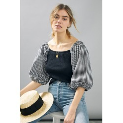 Roselle Smocked Top By W5 Concepts in Black Size XL P found on Bargain Bro India from Anthropologie for $49.95