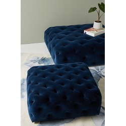 Thelina Tufted Ottoman - Blue, Size S found on Bargain Bro UK from Anthropologie UK