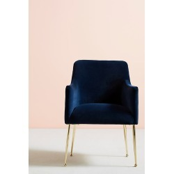 Elowen Dining Chair with Arm Rest - Blue found on Bargain Bro UK from Anthropologie UK