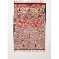 Hand-Knotted Double Diamond Rug By Anthropologie in Purple Size 2 X 3 found on Bargain Bro Philippines from Anthropologie for $128.00