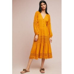 Robe champêtre dorée found on MODAPINS from Anthropologie FR for USD $193.70