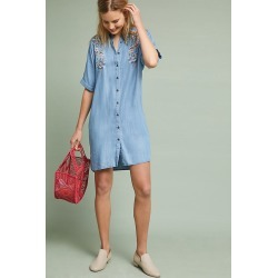Robe droite brodée Aada found on MODAPINS from Anthropologie FR for USD $79.24