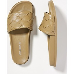 Silent D Woven Slide Sandals By Silent D in Beige Size 37 found on Bargain Bro from Anthropologie for USD $66.88