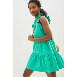 Maeve Lida Ruffled Mini Dress By Maeve in Green Size 2 X found on Bargain Bro India from Anthropologie for $138.00