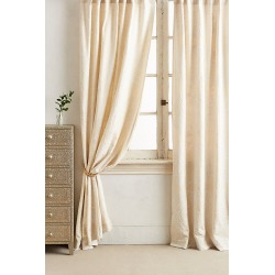 Embroidered Gretta Curtain By Anthropologie in White Size 50X63 found on Bargain Bro Philippines from Anthropologie for $88.00