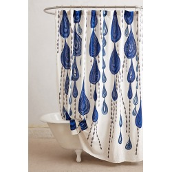 Jardin Des Plantes Shower Curtain By Ruan Hoffmann in Blue Size ALL found on Bargain Bro Philippines from Anthropologie for $108.00
