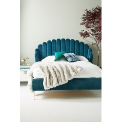 Bethan Gray Feather Collection Bed - Blue, Size Eu King found on Bargain Bro UK from Anthropologie UK