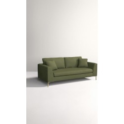 Edlyn Sofa, Performance Linen - Green found on Bargain Bro UK from Anthropologie UK