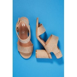 Vanessa Wu Studded Heeled Sandals