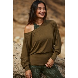 Free People Movement Featherweight Top By Free People Movement in Green Size XS found on Bargain Bro Philippines from Anthropologie for $68.00