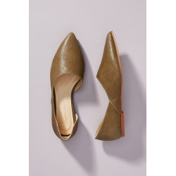 Alix Asymmetrical Flats By Anthropologie in Beige Size 39 found on MODAPINS from Anthropologie for USD $89.95