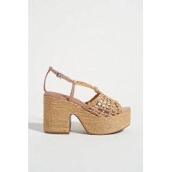 Melissa Woven Platform Sandals By Vicenza in Beige Size 39 found on Bargain Bro India from Anthropologie for $218.00